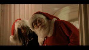 Pictured: Santa and Krampus